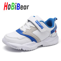 New Autumn 2019 Sport Sneakers Childrens Boy Girls PU Leather Fashion Kid Shoes Hot Sale Boy Running Shoes Brand Mesh Girls Shoe