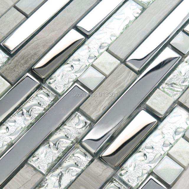 Glass And Metal Backsplash Cheap Stainless Steel Kitchen Tiles Stone