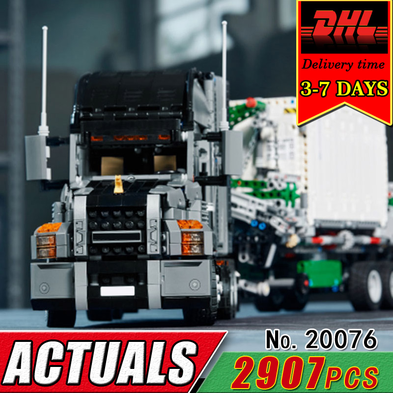 DHL LEPIN 20076 Technic Series The Mack Big Truck Compatible 42078 Building Bricks Blocks Children Educational Classic Toy Gift lepin 20076 technic series the mack big