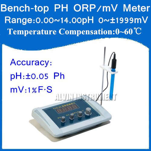 где купить Free Shipping Bench-top Bench top pH ORP/mV  Meter Tester Accuracy:+-0.05pH; mV:1%FS Resolution:0.01pH,1mV Temp. Compensation по лучшей цене