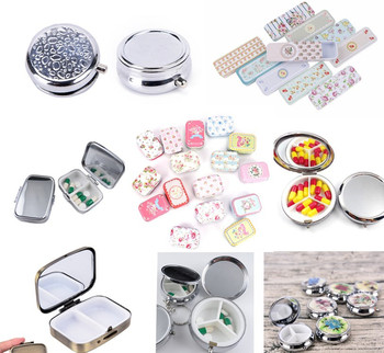 Wodoodporne aluminiowe pudełko na tabletki Case podręczny pojemnik na pigułki pojemnik brelok apteczka opieka zdrowotna tanie i dobre opinie KuZHEN Przypadki i rozgałęźniki pigułka Metal alloy Pill Storage B