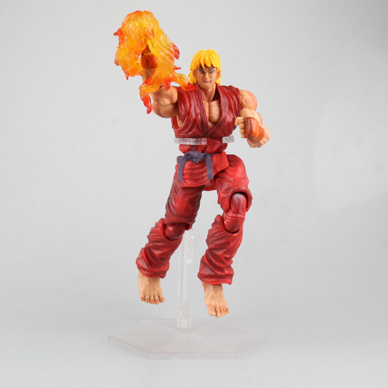 Ken Super Street Fighter 4 Game Figure Arcade Edition - Play Arts Kai Vol.4 Ken Action Figure Collection Model Kids Toy saintgi street fighter v ken bigboystoys with light action figure game toys pvc 16cm model kids toys collection