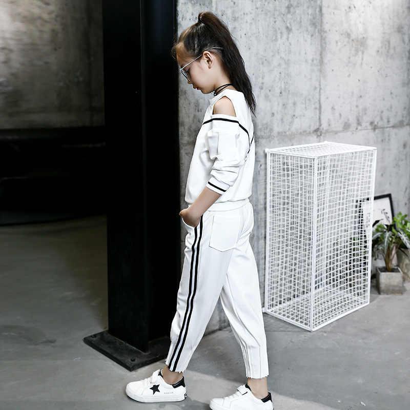 efae9117c43 ... Модные спортивные костюмы для больших девочек с открытыми плечами