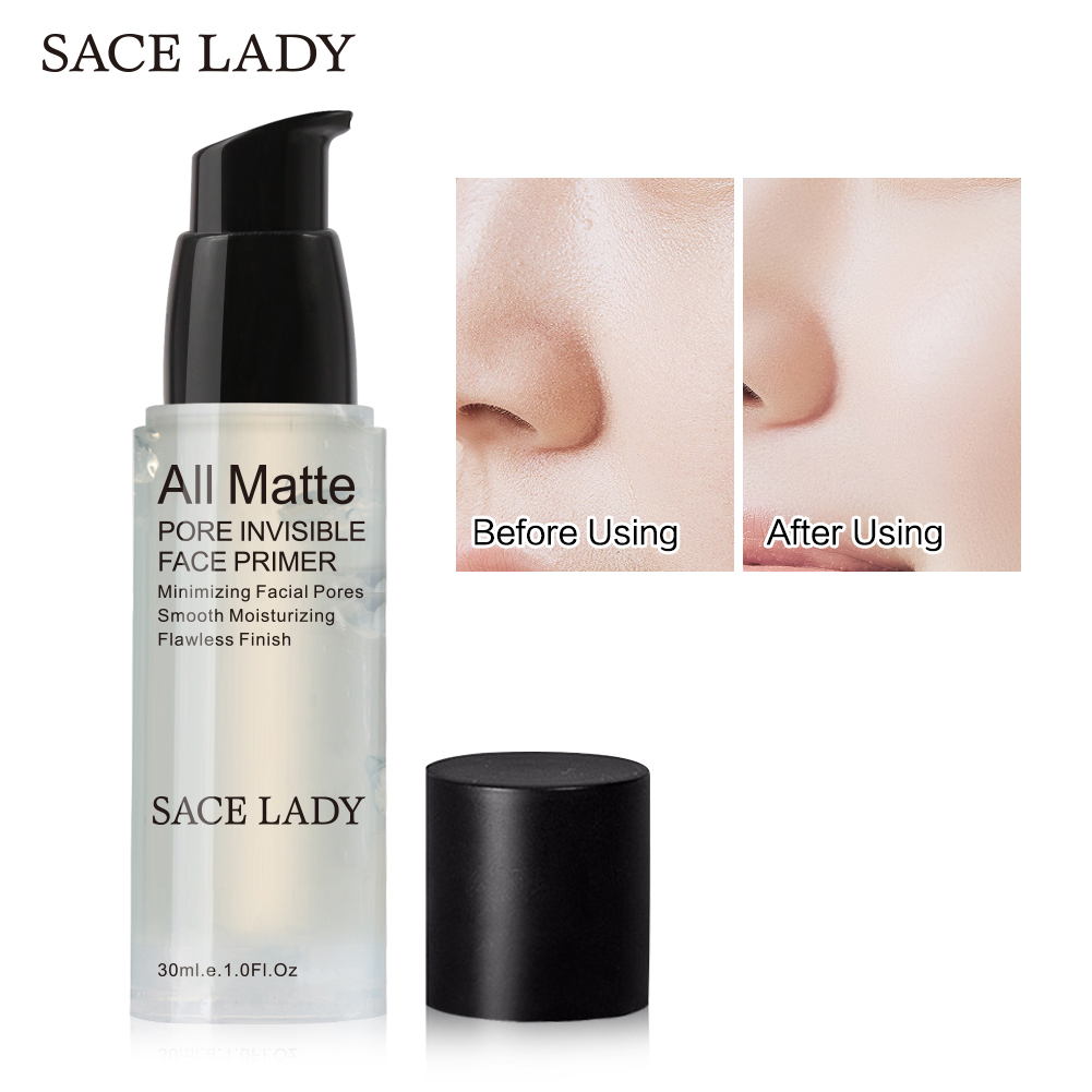 SACE LADY 6/12/30ml Face Primer makeup All Matte Make Up Foundation Pores Invisible maquiagem Base Primer Facial Skin Cream