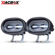 6D 20W LED Work Light Universal Motorcycle Off Road Auxiliary Spot Lamp Driving Fog Light for Car Truck Motorbike Headlight Spot 2pcs motorcycle 20w led work light pod 6000k spot lamp headlight fog light