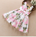 Lemon Print Princess Dress For Girl 2017 Summer Baby Girls Dresses Party Wedding Children Dress Hot Sale Kids Clothes drop ship