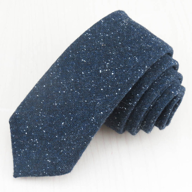 (1 unids/lote) Super fashion un marino lunar blanco corbata de lana boutique de negocios/oficina casual corbata de gm