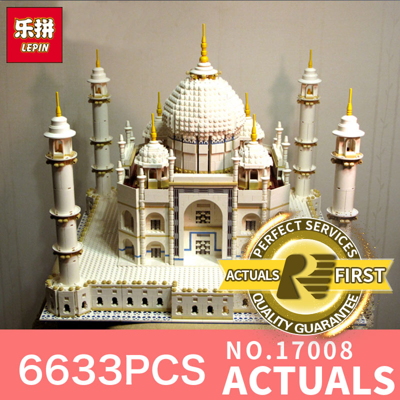 6633PCS LEPIN 17008 17001 The Tai Mahal Model Building Kits Brick Toys LegoINGlys 10189 Educational toy for Children DIY Gifts loz mini diamond block world famous architecture financial center swfc shangha china city nanoblock model brick educational toys