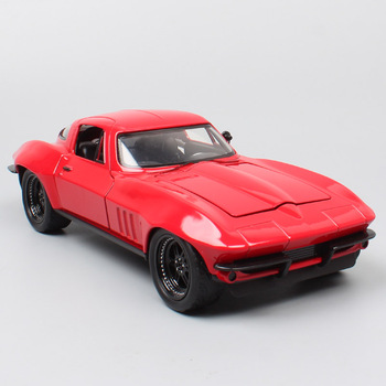 kid's 1:24 Jada the letty CHEVY Corvette 1966 Chevrolet Diecasts cars model scale auto toys Vehicle thumbnails game car souvenir image