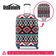 Dispalang National Striped Elastic Suitcase Cover Stretch Thick Luggage Protective Dust Cover Travel Accessories Luggage Covers(China)