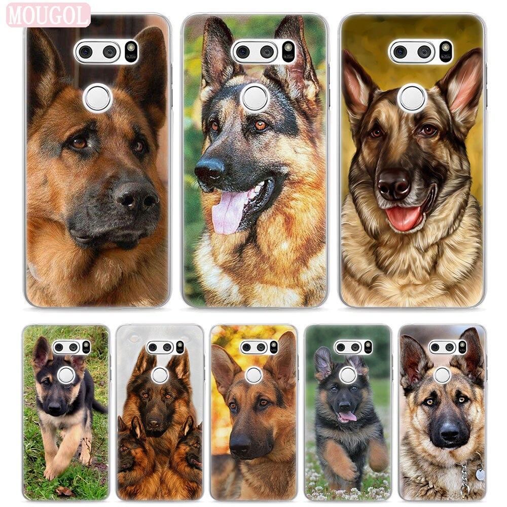 Mougol Лидер продаж Соболь немецкая овчарка щенок Стиль Жесткий Тонкий Ясно Мобильный телефон чехол для LG V30 V20 G6 G5 Q6 k8 K10 K5