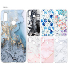 Case Cover for Xiaomi MI A2 A1 Lite Redmi Note 4X 4 5 6 6A Pro S2 6X 5X Prime Poco F1 Marble tiles stone painting Silicone Phone