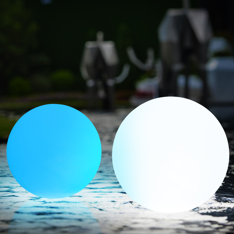 Rechargeable Color Changing Water Floating Ball Lamp Remote Control Landscape Lighted Plastic Sphere Decoration pool party ...
