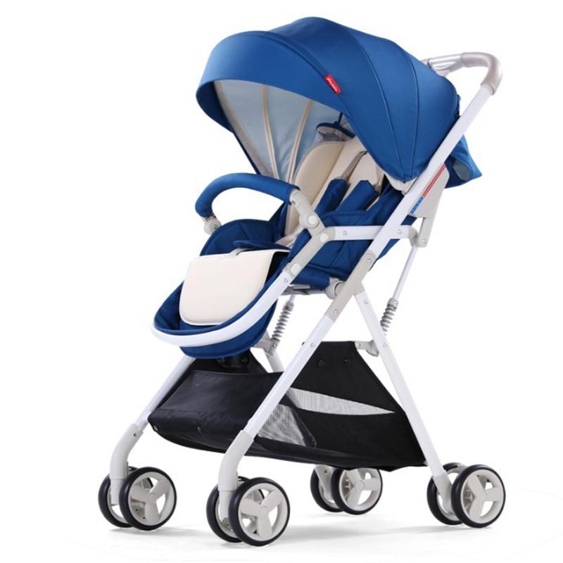 Baby stroller high landscape umbrella folding ultra-light portable small can sit reclining baby children push
