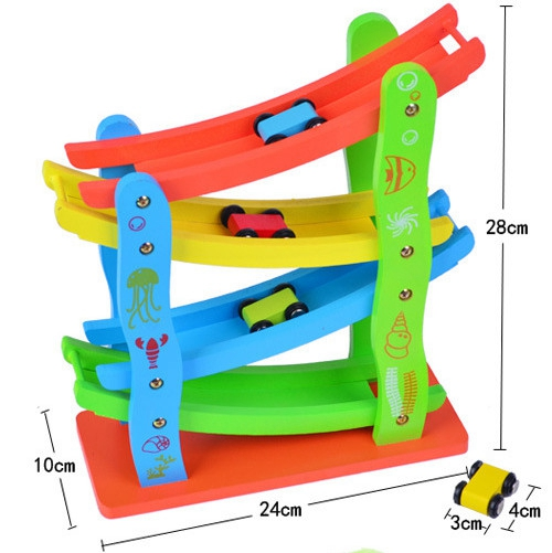 Купить с кэшбэком Flying Town car wooden educational toys Track Toys baby montessori math toys learning game toys fun brinquedos baby gift