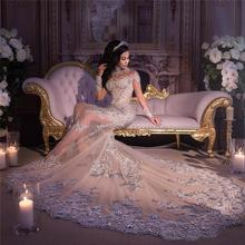 Vieruodis Luxury Dubai Mermaid Wedding Dresses Long Sleeves