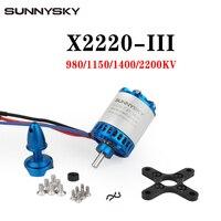 Sunnysky X2220 III X2220 III KV980 KV1150 KV1400 KV2200 3S Outrunner Brushless Motor Designed for Fixed Wing 3D 3A Glider