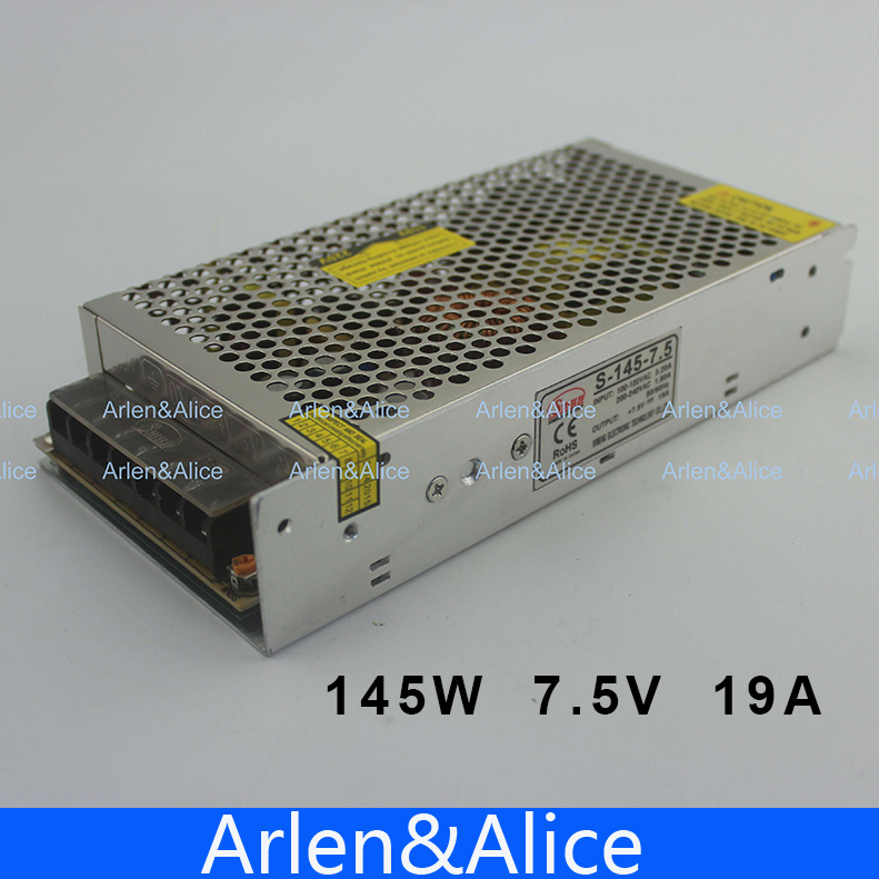 145W 7.5V 19A Single Output Switching power supply for LED Strip light AC to DC