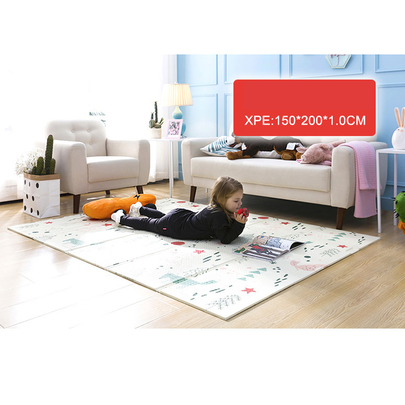 Baby Play Mat Xpe Puzzle Children's Mat Thickened Tapete Infante Baby Room Crawling Pad Folding Mat Baby Carpet