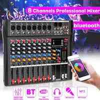 Console de mixage sonore 8 canaux CLAITE enregistrement bluetooth USB lecture ordinateur effet alimentation fantôme 8 canaux mixeur Audio USB