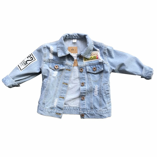 1a209c03e Special Offer Little Boys Denim Jacket Children Clothes 2018 Spring ...