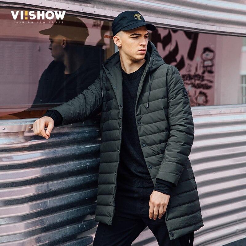 VIISHOW New Arrival Mens Thick Warm Winter Down Coat Army Green Men Parka Casaco Masculino Long Coat Jacket Parka Men YC2722174