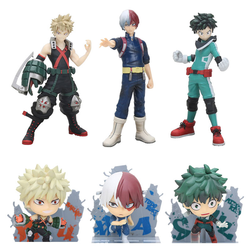 MY HERO AKADEMIE/ FIGUR IZUKU MIDORIYA 15 CM BATTLE SEHEN IN SCHACHTEL Action- & Spielfiguren