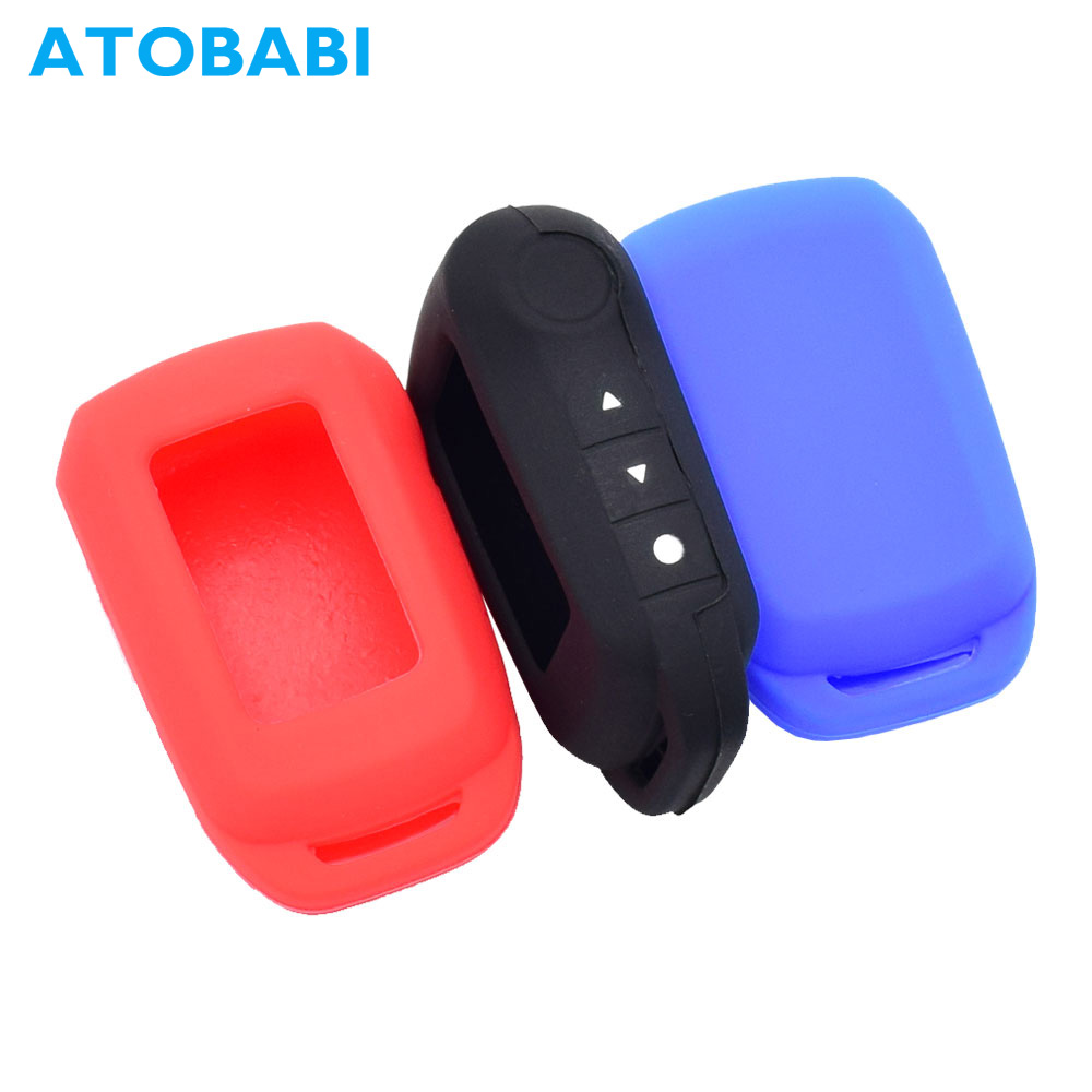 ATOBABI A94 Silicone Key Case LCD Remote Shell Cover For Starline A64/A95/T94/V63/V62/A62/A92 Two Way Car Burglar Alarm System