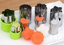 YOOAP Vegetable Fruit Cutter Mold 8Pcs/set Flowers Cartoon Cutter Mold Stainless Steel Cake Cookie Biscuit Cutting Shape Tools все цены