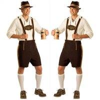 The Bavarian Beer Guy Lederhosen Oktoberfest Outfit Costume Men's Fancy Dress