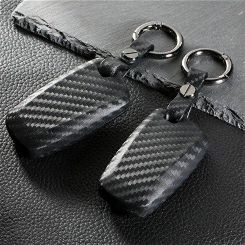 Peacekey fibra de carbono cartera caso clave cubierta anillo para BMW F30 E90 F10 M3 M1 2 3 5 serie 7X1X3X4X5X6 accesorios del coche