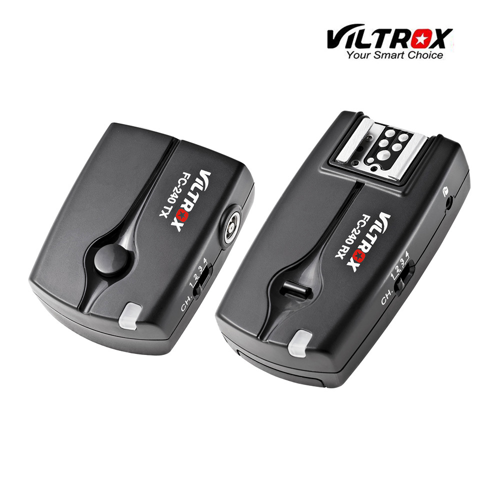 Viltrox FC-240 Wireless Remote Flash Trigger Camera Shutter Release for Canon 7D Mark II 6D 5D II III 1D 50D 40D 5D Mark IV DSLR godox plastic wired shutter release remote cord for canon 7d 5d 5d3 5d2 more black