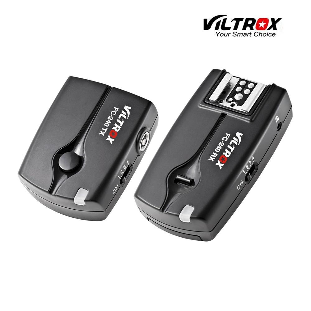 Viltrox FC-240 Wireless Remote Flash Trigger Camera Shutter Release for Canon 7D Mark II 6D 5D II III 1D 50D 40D 5D Mark IV DSLR viltrox fc 16 off camera flash trigger w light control trigger black