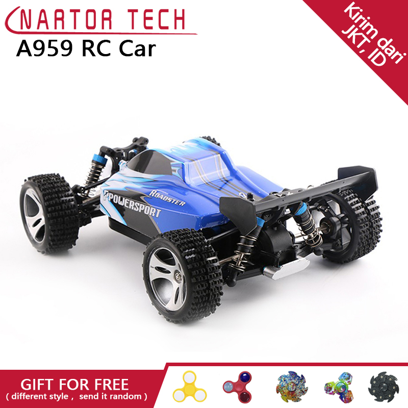 WL Toys A959 RC Car 2.4G Radio Remote Control Model Scale Rally Shockproof Rubber wheels Buggy High-speed Off-Road wltoys a959 2 4g radio remote control rc car kid toy model scale 1 18 new shockproof rubber wheels buggy highspeed off road