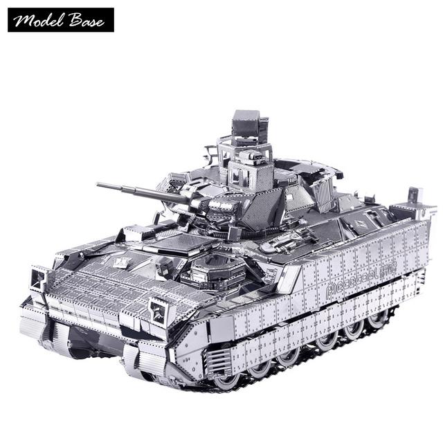 3d puzzles de metal cheia modelo montado diy para adultos provocação modelos 3d puzzle crianças jogos educativos nano m2a3 tanque de infantaria