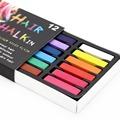 12 Color Temporary  Hair Dye Non-toxic Hair Chalk Soft Pastels Kit Hair Color Crayons with Retail Package
