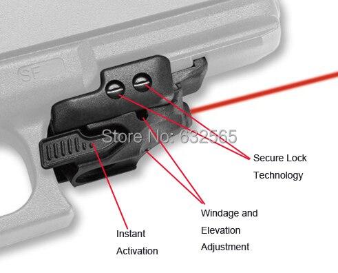 Polymère Tactique Mini Pistolet Pistolets Glock Rouge Laser Sight pour Airsoft Pistolet à air Comprimé Bras