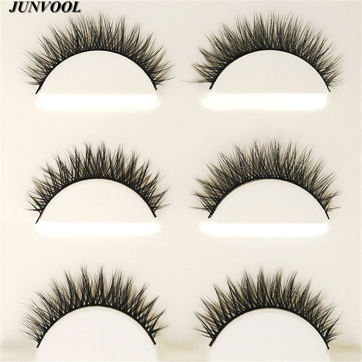 Eyelash Extension 15 Pairs Handmade 3D Mink Hair Beauty Thick Long - Makeup
