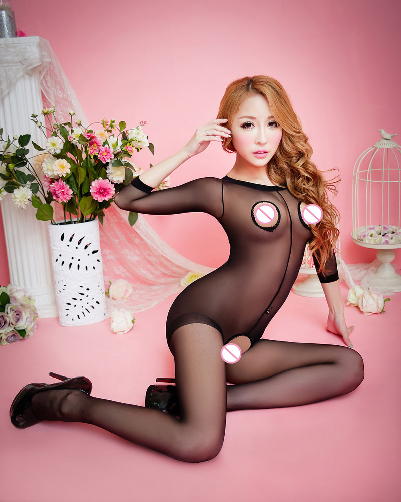 Sexy Bodystocking Bodywear Unisex s Opened Crotch Transparent Body Pantyhose Tight Stocking Women's catsuit and Sleeping Suits