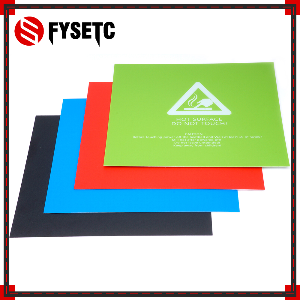 1pc 220x220mm Black/Blue/Green/Red Heated Bed Paper Sticker For Wanhao Anet A8 A6 3D Printer Sticker Build Sheet Plate