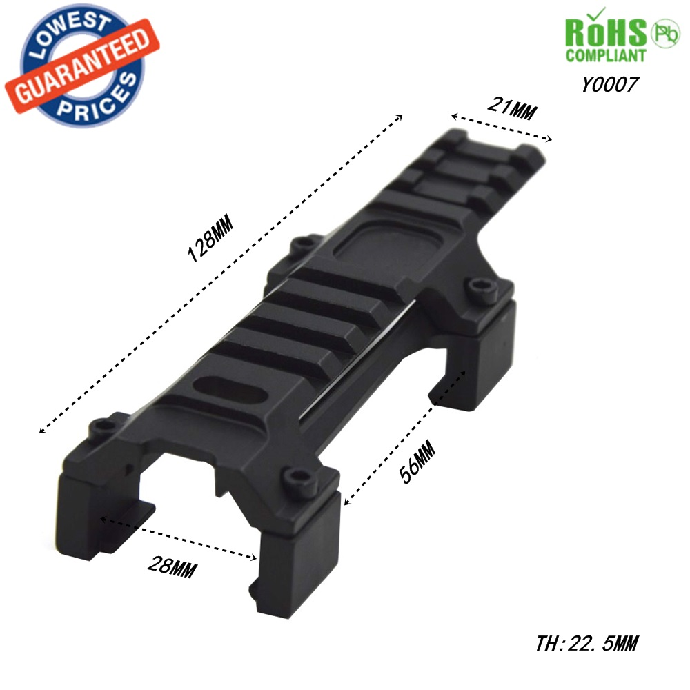 Hunting Military Gear Aluminium Airsoft MP5 G3 20mm Scope Mount Rail Picatinny Base MP5 Dovetail guide rail bracket - 1PC Y0007