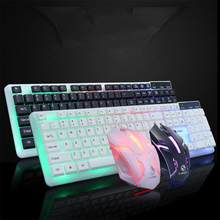 Timur Vita Kabel USB PC Gamer Mekanik Merasa Keyboard + Mouse Set untuk Laptop Komputer Keyboard Backlit Keyboard dan Mouse R29(China)