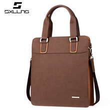 2017 Business Casual Fashion Simple Leather Male Light Brown Bags Design Famous Sxllns Brand Men Handbag Crossbody Bags