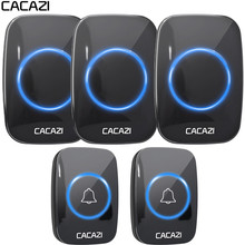 CACAZI New Wireless Doorbell Waterproof 300M Remote EU AU UK US Plug smart Door Bell Chime battery 2 button 3 receiver 110V 220V