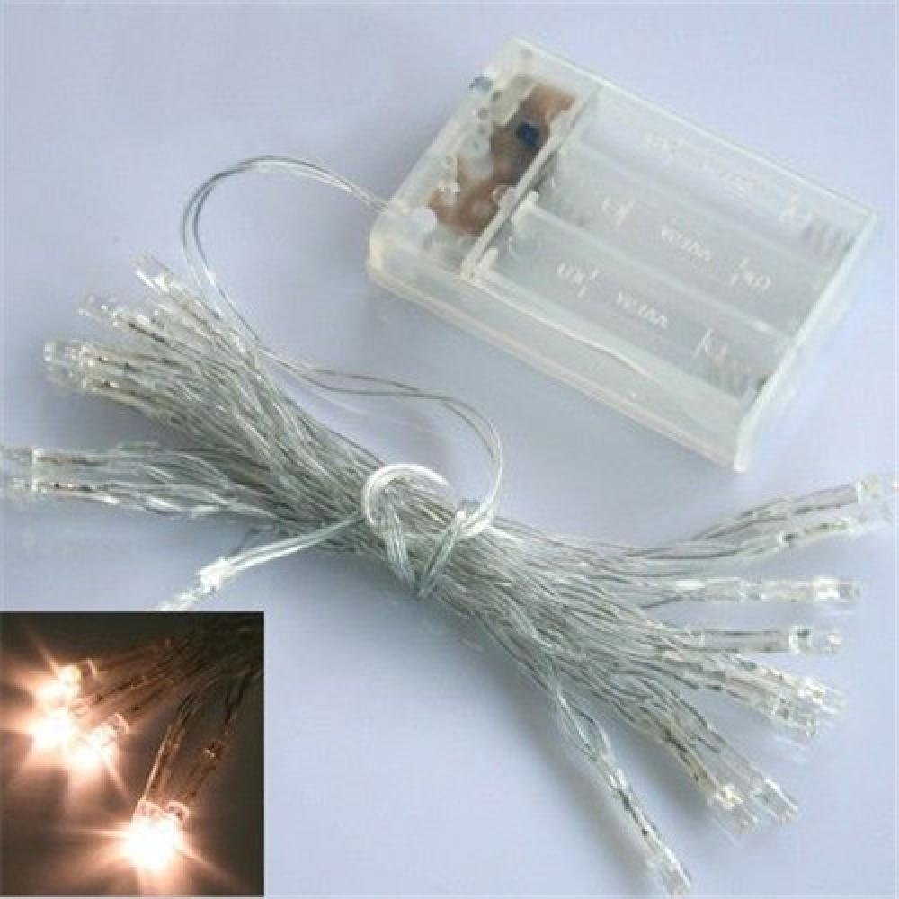 AA Battery Mini 10/20/30/40 LEDs Warm Wit Christmas String Fairy - Vakantie verlichting - Foto 6