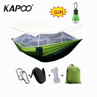 Outdoor leisure double mosquito net hammock outdoor furniture camping picnic hunting park swing chair soft comfortable dormitory