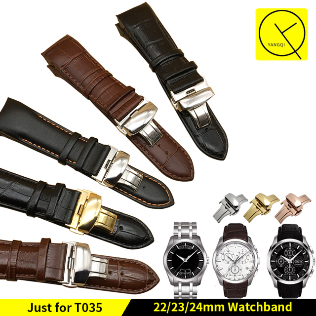 Genuine Leather Watchband for Tissot 1853 T-CLASSIC Couturier Watch T035 Man Wat