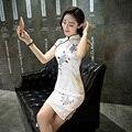 Mulheres do vintage Fino Cheongsam Vestido de Linho Cheongsam Elegante China Qipao Chinês Tradicional Vestido de Roupas para Mulheres