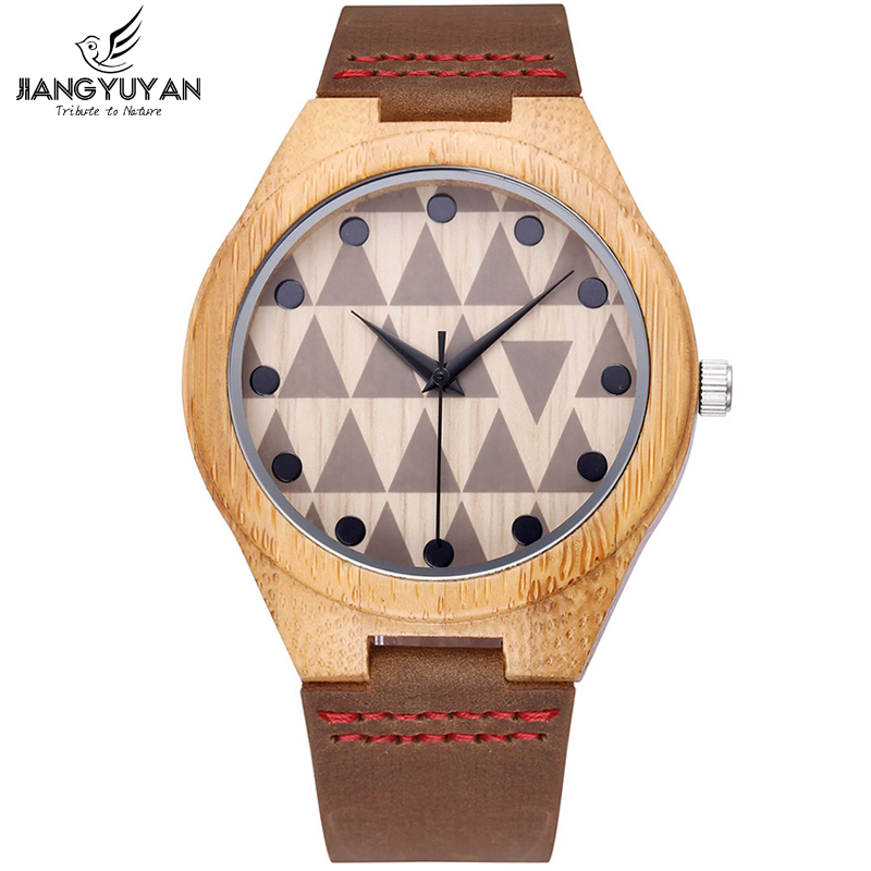 Bamboo Wooden Watches Men Antique Watch Genuine Leather Casual Wristwatch Analog Quartz-watch Clocks relogios masculino Russian