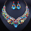 African Crystal Rhinestones Necklace Earrings for Women Fashion Dubai Bridal Jewelry setsfor women Jewelry sets
